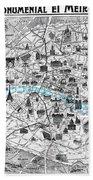 Paris Monumental Beach Sheet