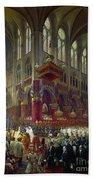 Paris: Notre Dame, 1841 Beach Towel