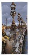Paris-pont Alexandre IIi Beach Towel by Guido Borelli