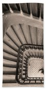 Paris Staircase - Sepia Beach Towel