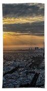 Paris Sunset Beach Towel