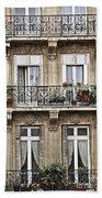 Paris Windows Beach Towel