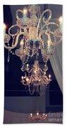 Parisian Crystal Chandelier - Chandelier In Window - Paris Gold Crystal Chandelier Decor Beach Towel