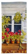 Parisian Window Beach Towel