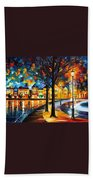 Park By The River Beach Towel