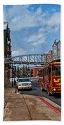 Park City Trolley Car Beach Towel