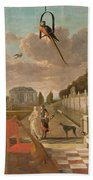 Park With Country House, Jan Weenix, 1670 - 1719 Beach Towel