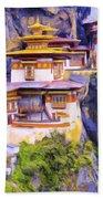 Paro Taktsang Monastery Bhutan Beach Towel