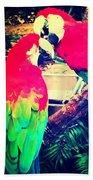 Parrot Couple Beach Sheet