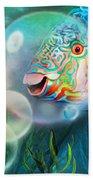 Parrot Fish - Through A Bubble Beach Towel