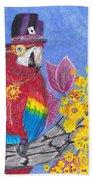 Parrot In Gear Tree Beach Towel