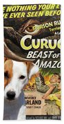 Parson Russell Terrier Art Canvas Print - Curucu  Movie Poster Beach Towel