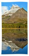 Partly Cloudy Fishercap Reflections Beach Towel