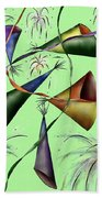 Party Hat Abstract  Beach Towel