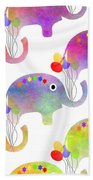 Party Parade - Elephant Children Pattern Beach Towel