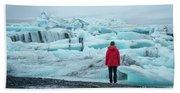 Passing Icebergs  Beach Towel