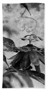 Passion Flower Black And White Beach Towel