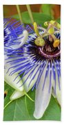 Passion Flower Power Beach Towel