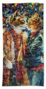 Passion Of The Cats  Beach Towel