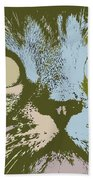 Pastel Cat Pop Art Beach Towel by Shelli Fitzpatrick