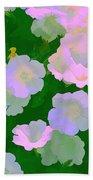 Pastel Flowers Beach Towel