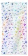 Pastel Hearts Beach Towel