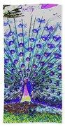 Pastel Peacock Beach Towel