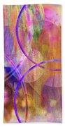 Pastel Planets Beach Towel