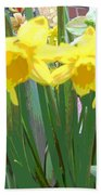 Pastel Tulips Beach Towel