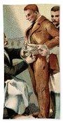 Pasteur Inoculating Man With Rabies Beach Towel