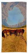 Pasture Of Another World Beach Towel