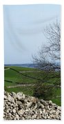 Patchwork Quilt Lough Corrib Maam Ireland Beach Towel