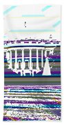 Patchwork White House Beach Towel