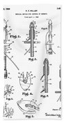 Patent Drawing For The 1966 Medical Device For Control Of Enemata By R. E. Miller Beach Towel