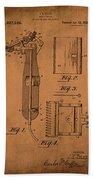 Patent  Razor Art Barry Toles Johansan Beach Towel