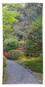 Path At Japanese Garden Beach Sheet