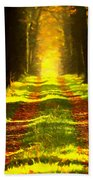 Path In The Forest 715 - Painting Beach Towel