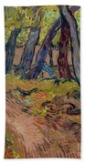 Path In The Garden Of The Asylum, By Vincent Van Gogh, 1889, Kro Beach Towel