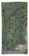 Path In The Woods Paris, May 1887 - July 1887 Vincent Van Gogh 1853  1890 Beach Towel