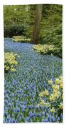 Path Of The Beautiful Spring Flowers Beach Towel