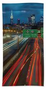 Path To And From Nyc Beach Towel