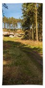 Path To St Cuthbert's Cave Beach Towel