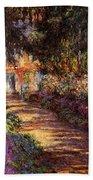 Pathway In Monet's Garden Beach Towel
