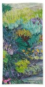 Pathway Of Flowers Beach Towel