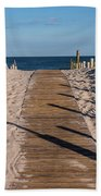 Pathway To Beach Seaside New Jersey Beach Towel