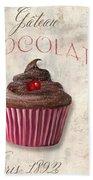 Patisserie Chocolate Cupcake Beach Towel
