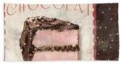Patisserie Gateau Au Chocolat Beach Sheet