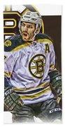 Patrice Bergeron Boston Bruins Oil Art 1 Beach Towel