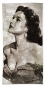 Patricia Medina, Vintage Actress Beach Towel