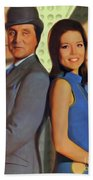 Patrick Macnee And Diana Rigg, The Avengers Beach Towel